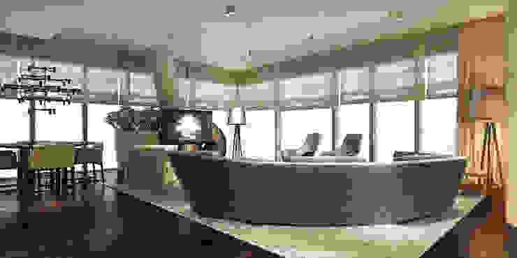 Modern Living Room by Katarzyna Kraszewska Architektura Wnętrz Modern