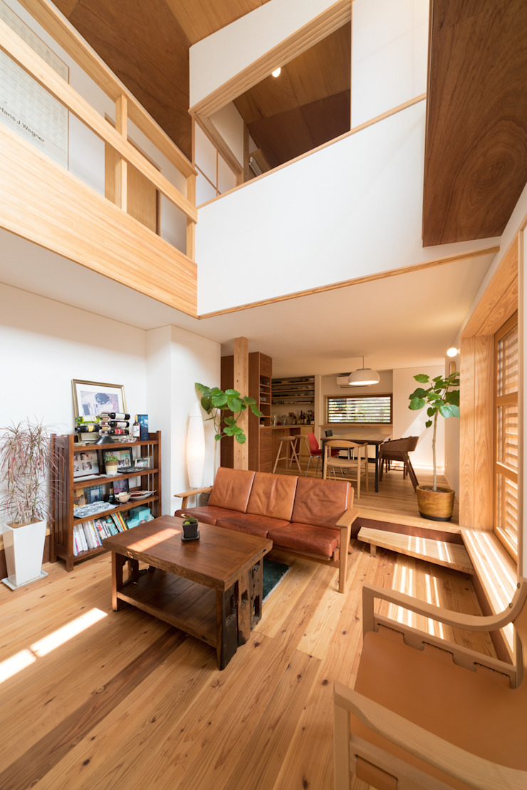 Modern Living Room by FAD建築事務所 Modern