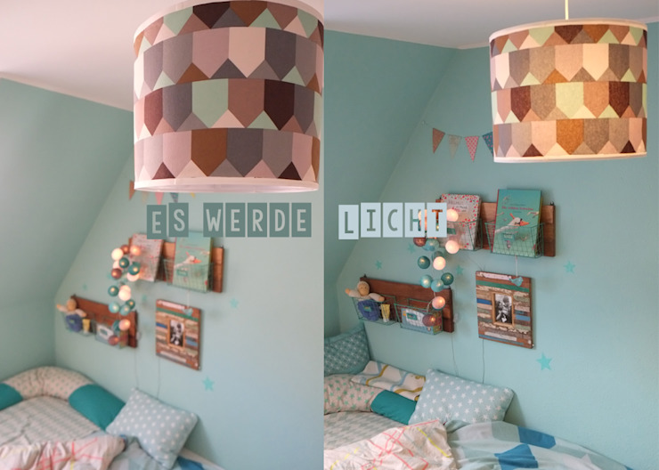 LYBSTES. BedroomLighting Textile Turquoise