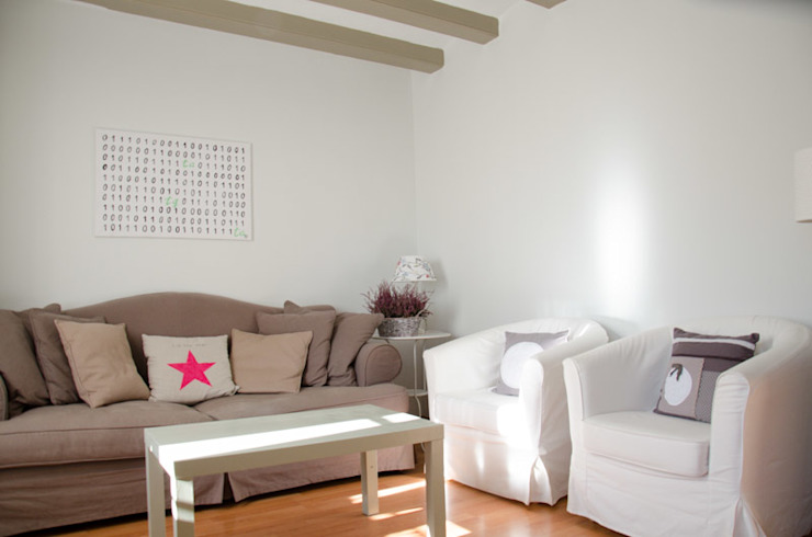 Proyecto 1 Salones de estilo moderno de Nice home barcelona Moderno