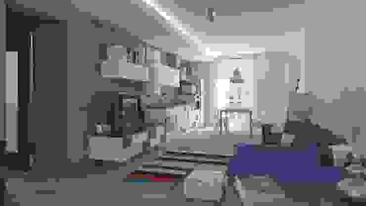 Ristrutturazione Appartamento Privato Pardo Gaetano Architetto Soggiorno moderno