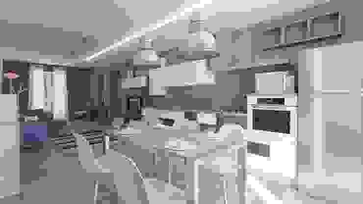 Ristrutturazione Appartamento Privato Pardo Gaetano Architetto Sala da pranzo moderna