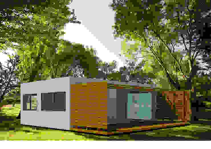 Projetos em LSF – Light Steel Framing. Lojas e Espaços comerciais modernos por Casas com Estilo - Obras Moderno