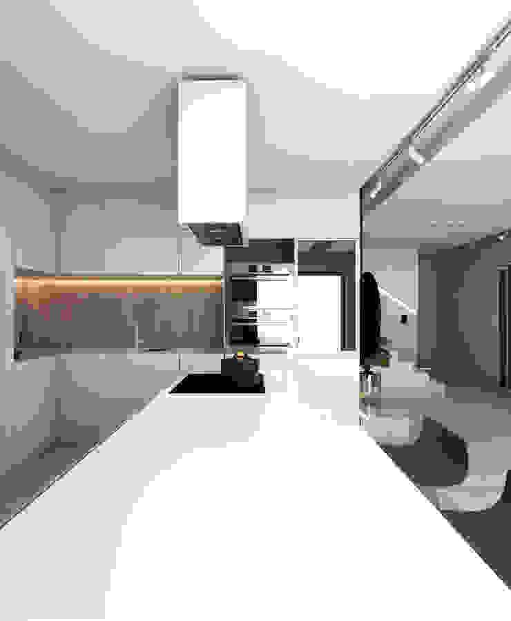 モダンな キッチン の A2.STUDIO PRACOWNIA ARCHITEKTURY モダン