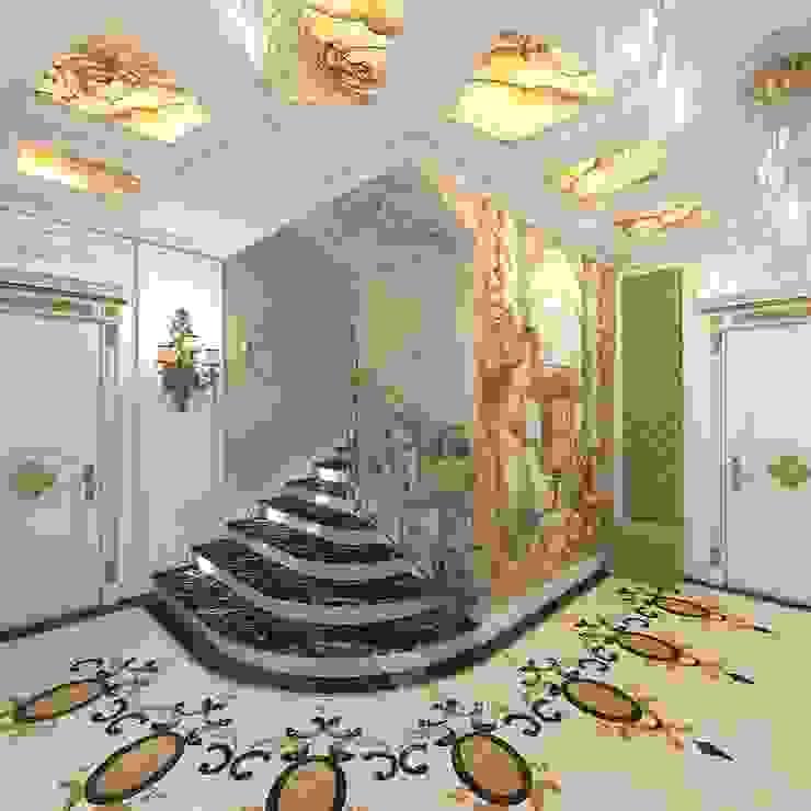 ДИЗАЙН ДОМА В ПОСЕЛКЕ MONTEVILLE Коридор, прихожая и лестница в модерн стиле от Студия дизайна интерьера Руслана и Марии Грин Модерн