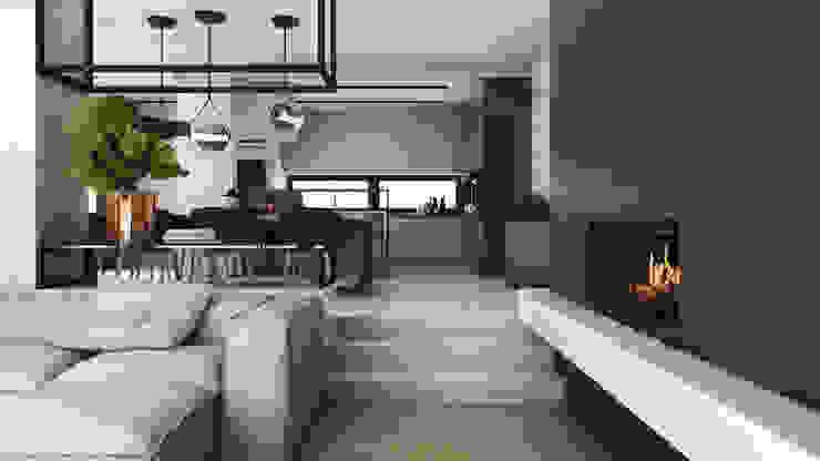 Modern Living Room by A2.STUDIO PRACOWNIA ARCHITEKTURY Modern