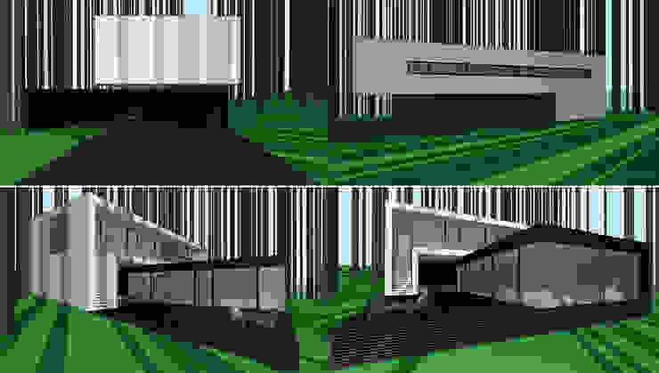 Дом под Киевом Дома в стиле минимализм от ALEXANDER ZHIDKOV ARCHITECT Минимализм