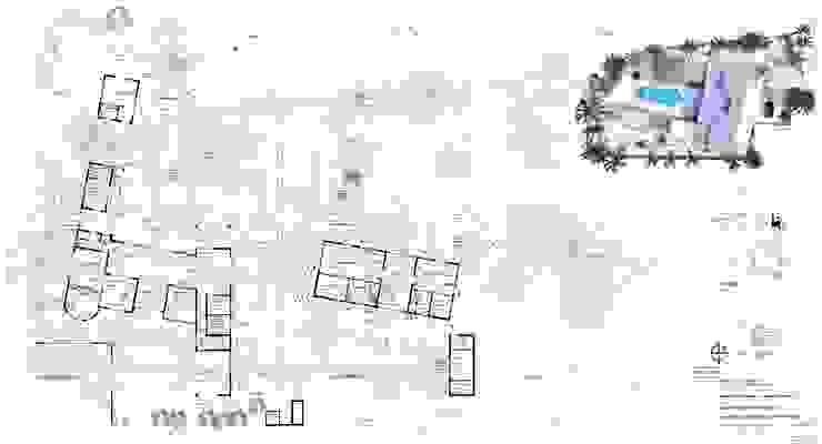 plattegronden Tropische muren & vloeren van architectenbureau Aerlant Cloin BNA Tropisch