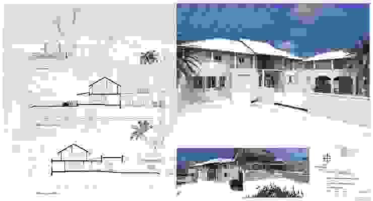 gevels en doorsneden Tropische huizen van architectenbureau Aerlant Cloin BNA Tropisch