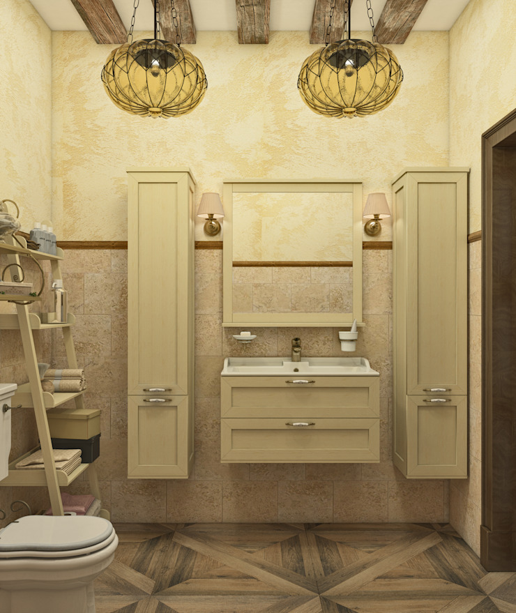 """Санузел """"Mediterranean area"""" Ванная в средиземноморском стиле от Студия дизайна Дарьи Одарюк Средиземноморский"""