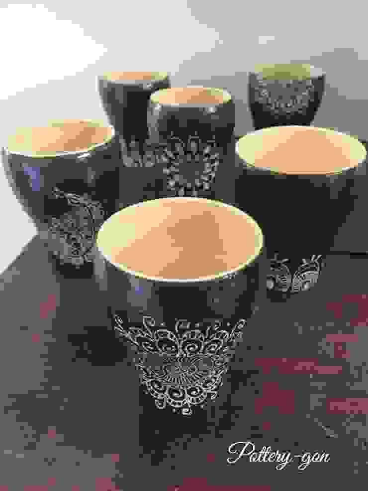 Beer Cup: Pottery-言(gon)が手掛けたアジア人です。,和風 陶器