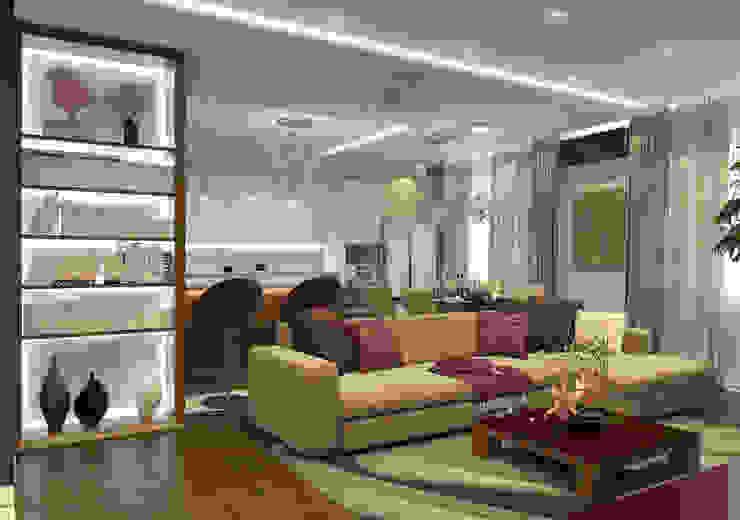 Дизайн-проект квартиры в ЖК Москва А101 Гостиная в стиле модерн от Aledoconcept Модерн