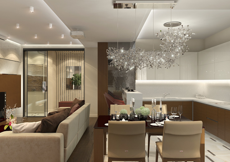 Дизайн-проект квартиры в ЖК Москва А101 Кухня в стиле модерн от Aledoconcept Модерн