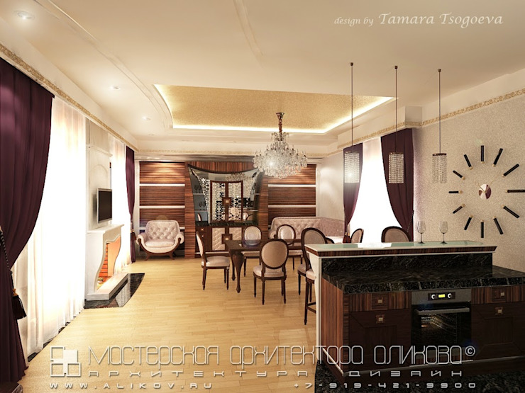 Интерьер дома во Владикавказе Кухня в классическом стиле от Мастерская архитектора Аликова Классический