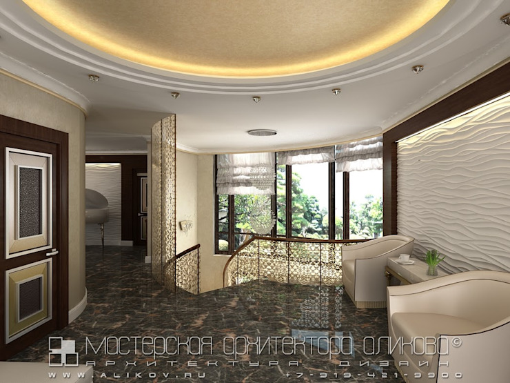 Интерьер дома во Владикавказе Гостиная в классическом стиле от Мастерская архитектора Аликова Классический