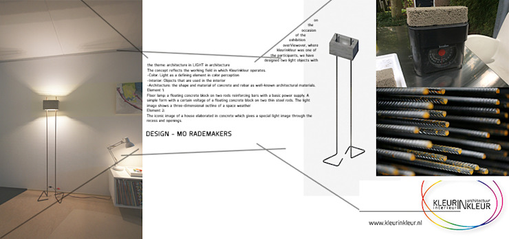 staande lamp van KleurInKleur interieur & architectuur Minimalistisch