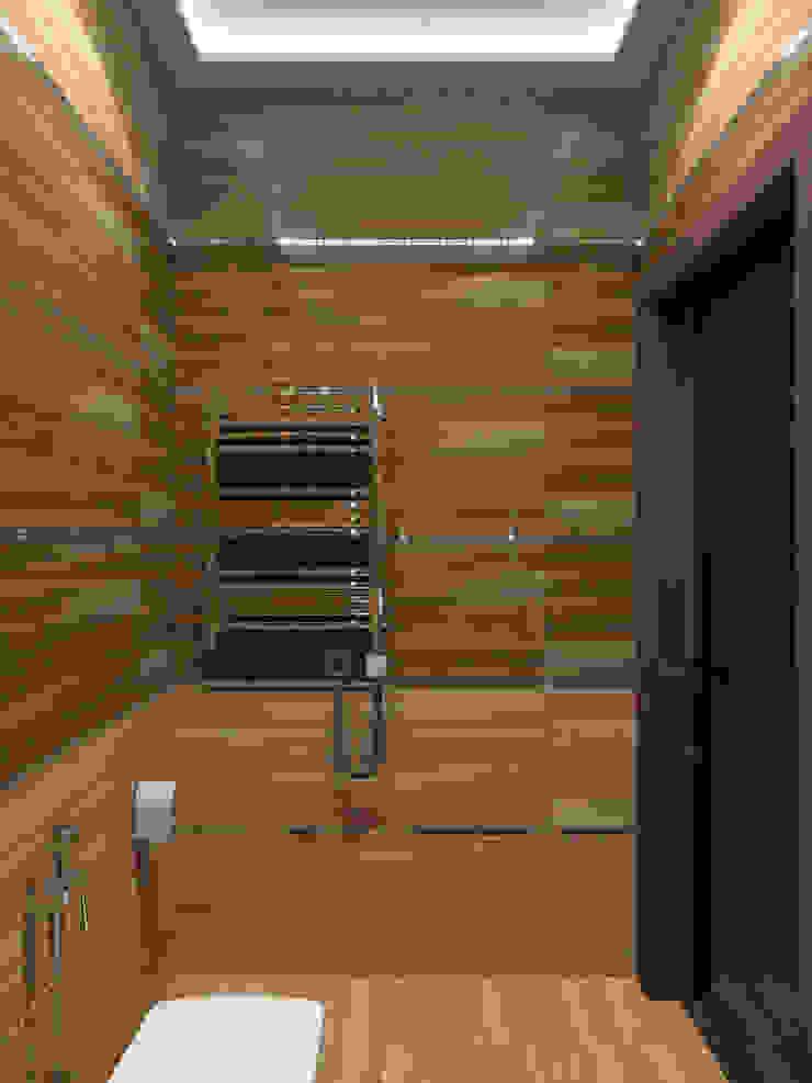 Дизайн-проект квартиры в ЖК Москва А101 Ванная комната в стиле модерн от Aledoconcept Модерн