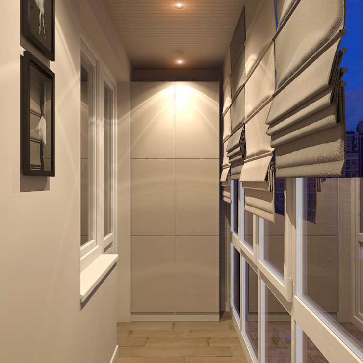 Дизайн-проект квартиры в ЖК Москва А101 Тренажерный зал в стиле модерн от Aledoconcept Модерн