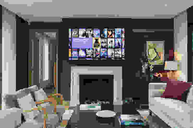 Living space London Residential AV Solutions Ltd Salones de estilo moderno