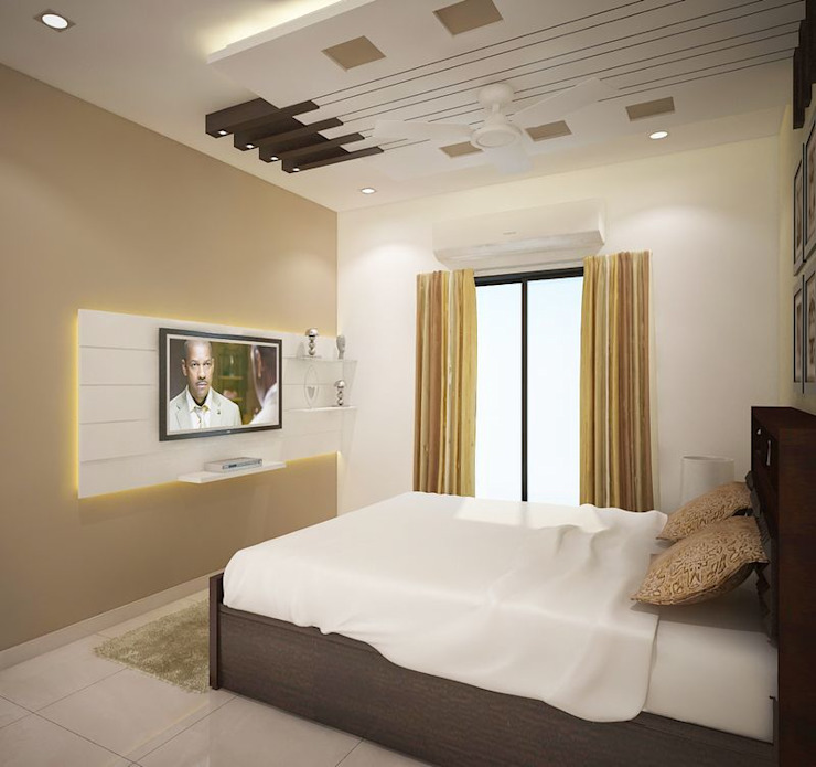 Dormitorios de estilo  por homify, Moderno