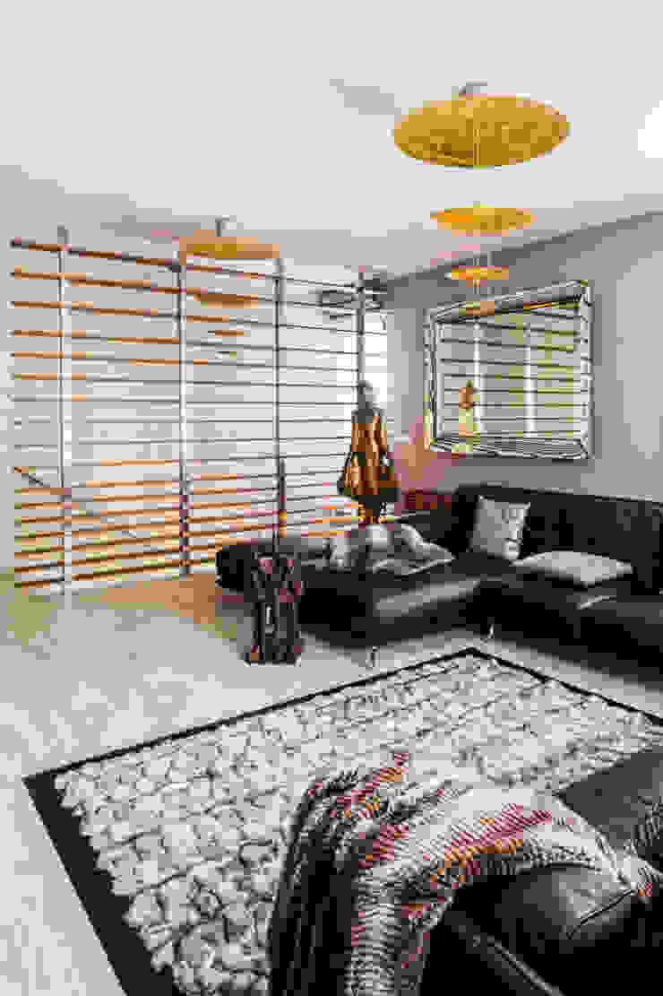 Our photoshoot of apartment located in Warsaw Kolonialny salon od Ayuko Studio Kolonialny