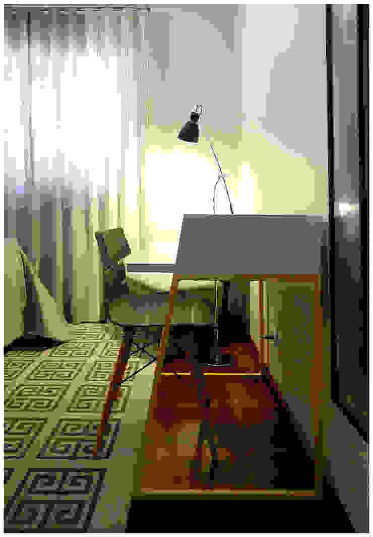 Moradia T3 Quartos modernos por Fragmentos Design Moderno