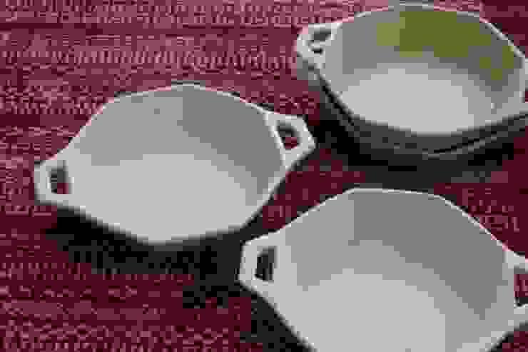 耐熱八角鉢: 陶工房 扇屋が手掛けた折衷的なです。,オリジナル 陶器
