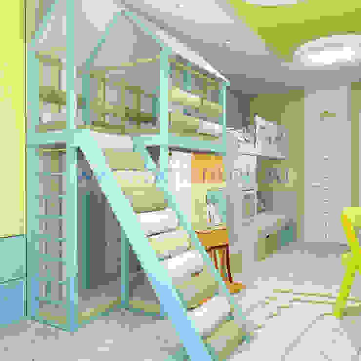 Дизайн проект детской комнаты в Екатеринбуге от Батенькофф homify Детская комнатa в скандинавском стиле МДФ Бирюзовый