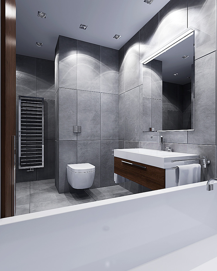 ЖК Карасьеозерский Ванная комната в стиле минимализм от TrioDesign Минимализм
