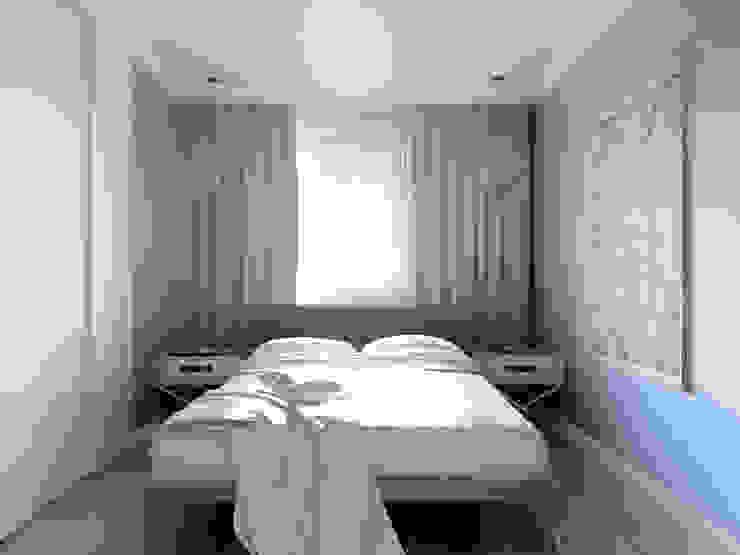 Студия в американском стиле Спальня в эклектичном стиле от TrioDesign Эклектичный