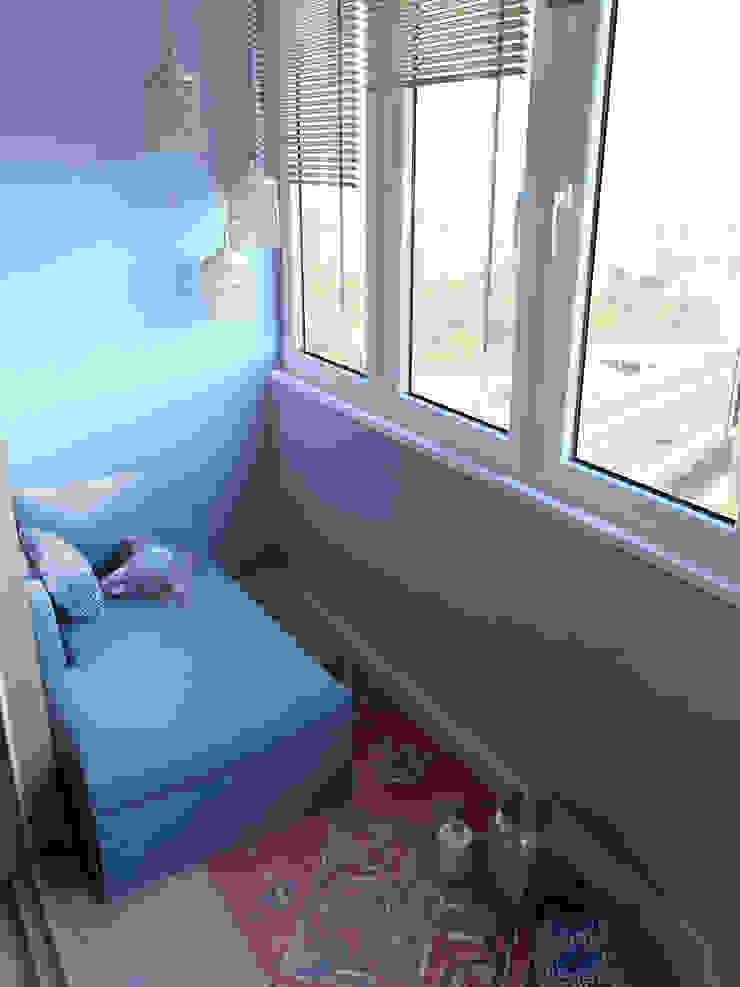 Студия в американском стиле Балконы и веранды в эклектичном стиле от TrioDesign Эклектичный