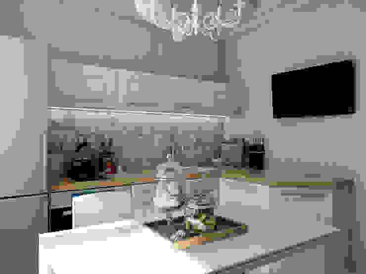 Квартира с орнаментом Кухни в эклектичном стиле от TrioDesign Эклектичный