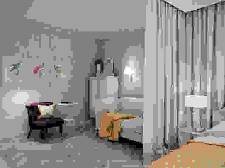 Квартира с орнаментом Гостиные в эклектичном стиле от TrioDesign Эклектичный