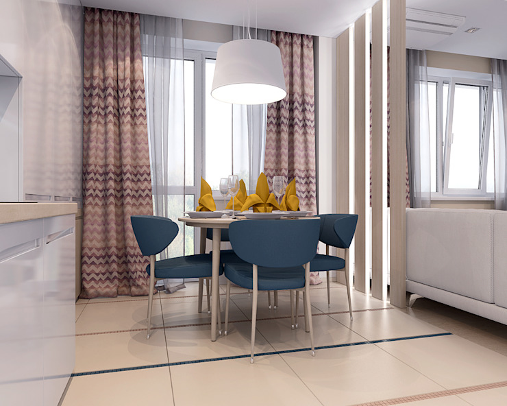 Студия Столовая комната в стиле минимализм от TrioDesign Минимализм