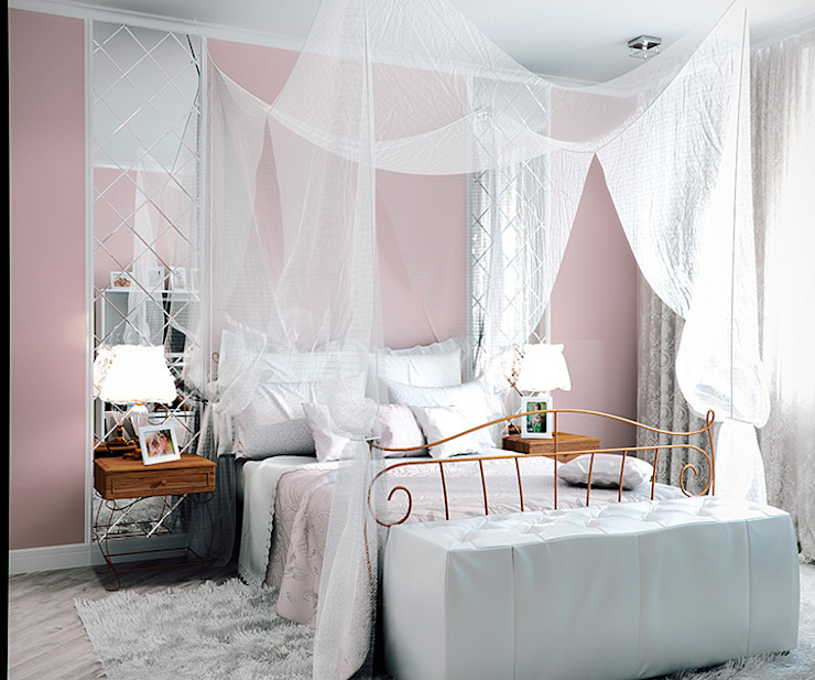 ЖК Москва Спальня в эклектичном стиле от TrioDesign Эклектичный