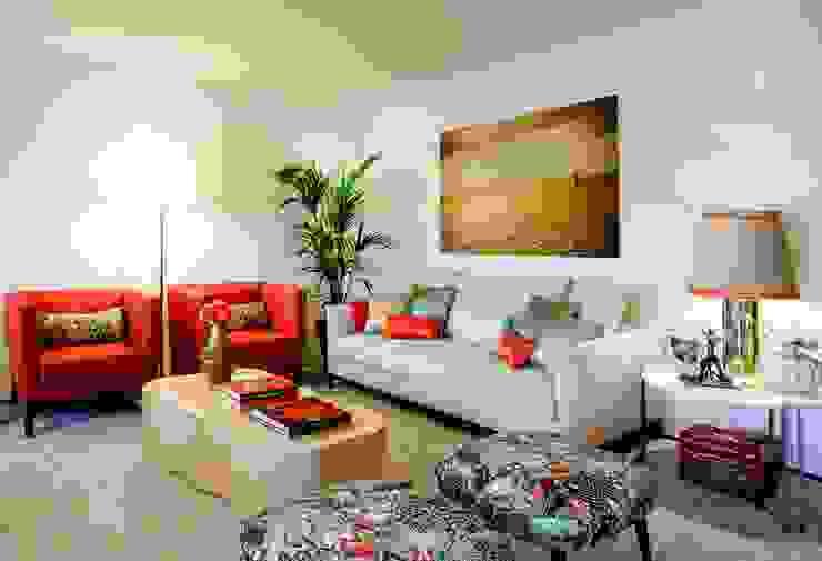 Residence Flat |  Boavista Palace | 2015: Salas de estar  por Susana Camelo,Moderno Cobre/Bronze/Latão