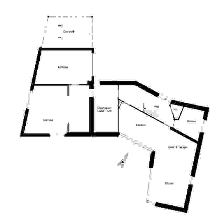 Plan Rez Maisons modernes par corbacreative sprl Moderne