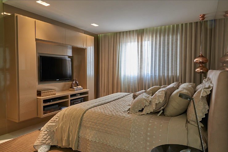 Gláucia Britto Modern style bedroom