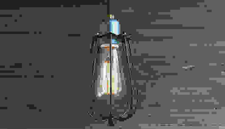KOPENHAGEN LOFT SZARO-BRĄZOWY LAMPA WISZĄCA od Altavola Design Sp. z o.o. Industrialny