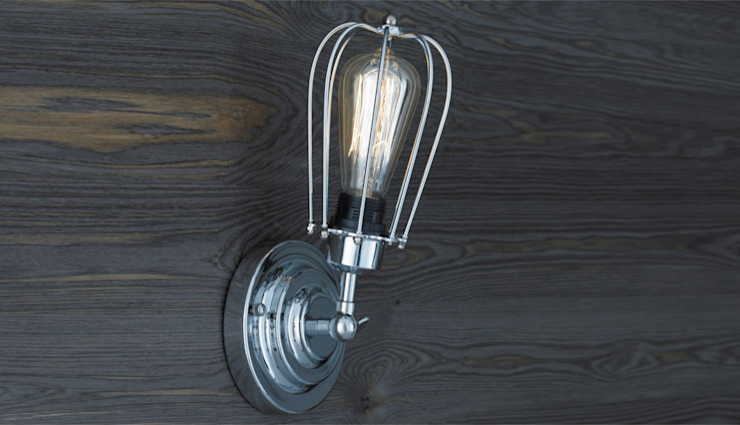 KOPENHAGEN LOFT CHROM KINKIET od Altavola Design Sp. z o.o. Industrialny