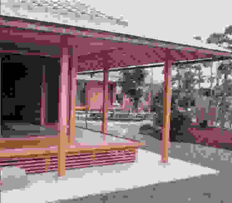 Dwelling – 新築Nk住宅 和風デザインの テラス の 杵村建築設計事務所 和風