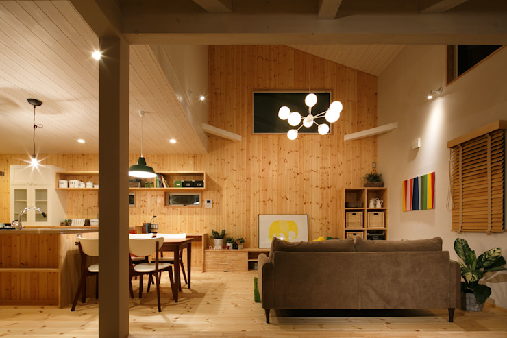 S's house 北欧デザインの リビング の dwarf 北欧