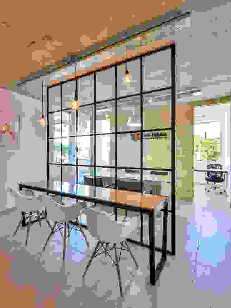 SIETE HABITOS OFICINAS Edificios de oficinas de estilo moderno de HO ARQUITECTOS Moderno