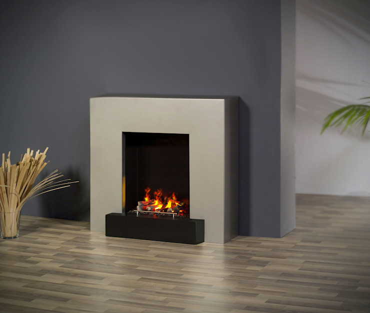 Breeze muenkel design - Elektrokamine aus Großentaft Living roomFireplaces & accessories