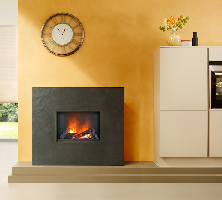 Palazzo muenkel design - Elektrokamine aus Großentaft Living roomFireplaces & accessories