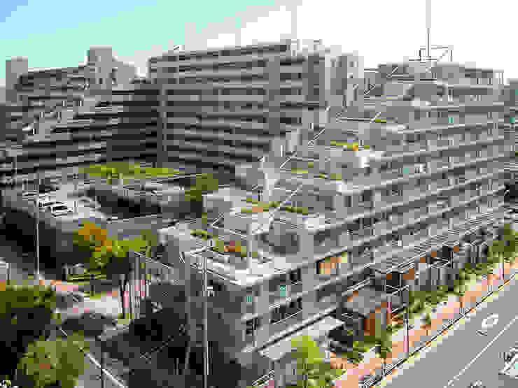 緑の環境の集合住宅2: ユミラ建築設計室が手掛けた家です。,モダン
