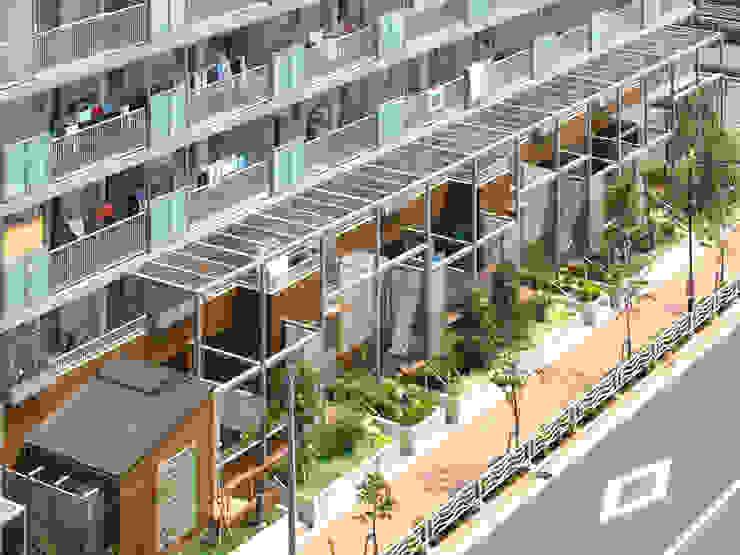 緑の環境の集合住宅2 モダンな 家 の ユミラ建築設計室 モダン