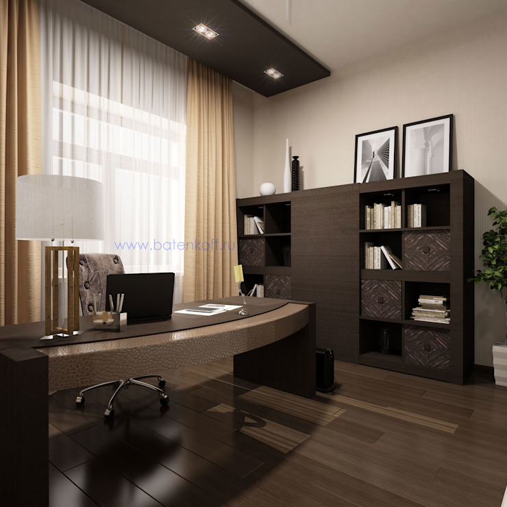 Study/office by homify, Classic MDF