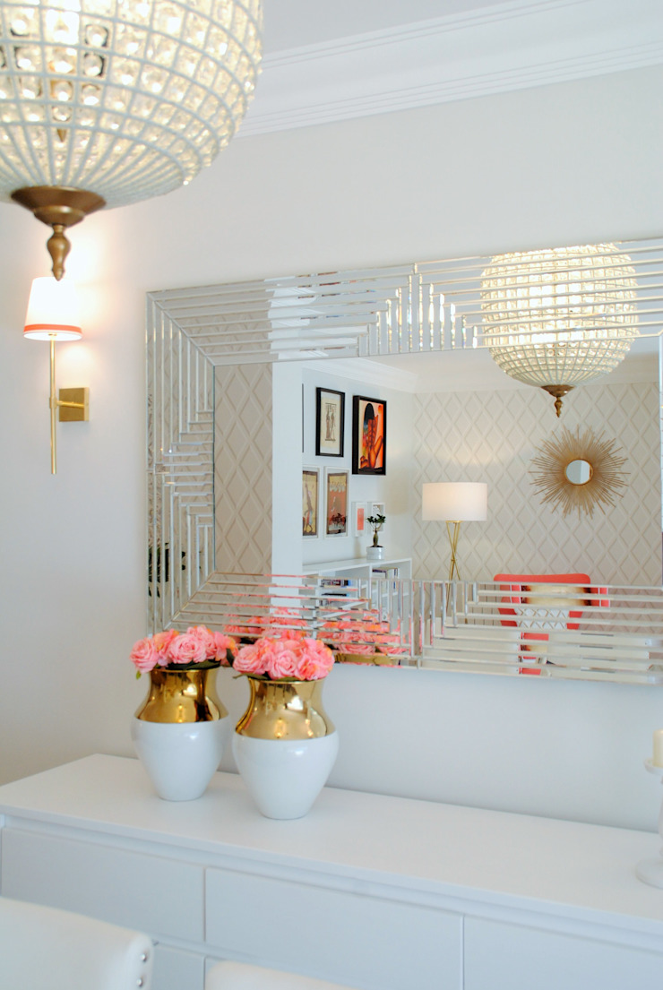 White Glam Salon moderne