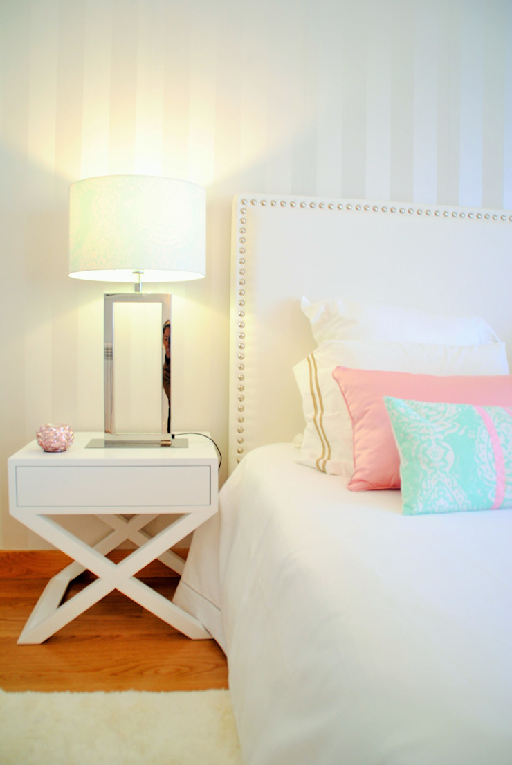 White Glam Chambre moderne
